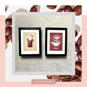 Wall Decor - 2 Coffe Theme framed pictures